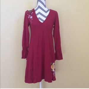 JLWA Johnny Was Embroidered Love Knit Dress | M